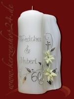 Diamantene Hochzeitskerze E-1146f