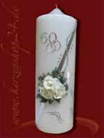 Diamantene Hochzeitskerze E-1193