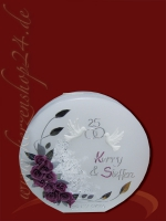 Silberne Hochzeitskerze E-1196b