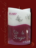 Silberne Hochzeitskerze E-1223