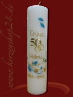 Goldene Hochzeitskerze E-1305
