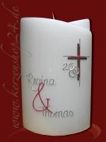 Silberne Hochzeitskerze E-1327