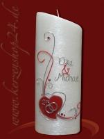 Silberne Hochzeitskerze E-1329a