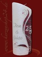 Silberne Hochzeitskerze E-1347