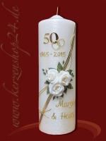 Goldene Hochzeitskerze E-1351