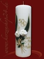 Goldene Hochzeitskerze E-1360