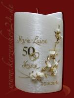 Goldene Hochzeitskerze E-1375